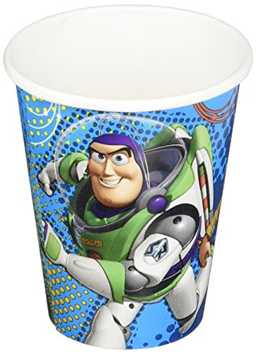 [Amscan Toy Story Power Up Birthday Party Paper Cups, 9 oz, Blue] (Buzz Lightyear Halloween)
