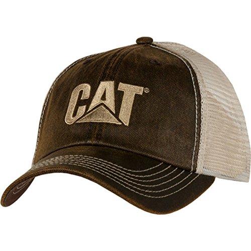 Cat Brown Waxy Mesh Cap -