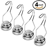 30lb Swivel Swing Powerful Magnetic Hooks Magnetic Swivel Hooks - Heavy Duty Super Strong Hook Magnet Set - Best For Refrigerator, Door Coat Hook, Grill Utensils, Cruise Cabin Wall, Garage Tool Hanger