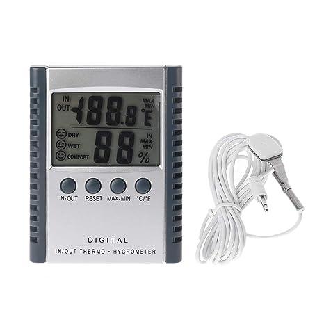 JENOR HC520 Termómetro digital para interior/exterior, higrómetro, medidor de temperatura y humedad
