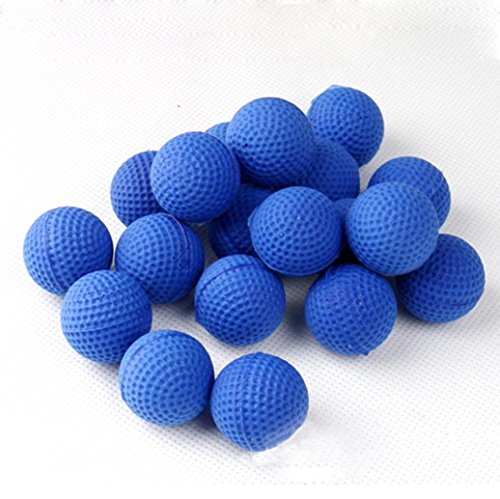 Matoen 50Pcs Bullet Balls Rounds Compatible for Nerf Rival Apollo Child Toy (Blue)