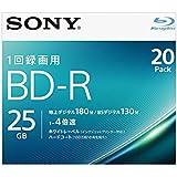 SONY ビデオ用ブルーレイディスク 20BNR1VJPS4(BD-R 1層:4倍速 20枚パック)