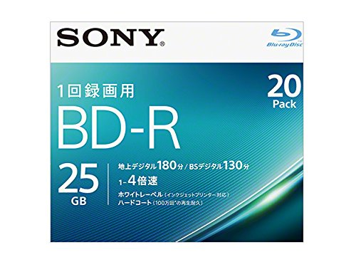 Sony 4X BD-R 20 pack 25GB White Printable 20BNR1VJPS4
