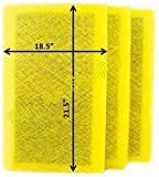 RayAir Supply 20x24 Air Ranger Replacement Filter Pads 20X24 (3 Pack) Yellow