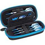 Casemaster Sentry Dart Case Slim EVA Shell for Steel and Soft Tip Darts, Hold 6 Darts and Features Built-in Storage for Flights, Tips and Shafts