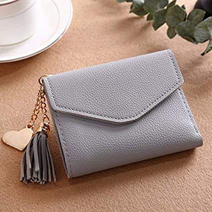 380ab30d831e Long Wallet Women Purses Tassel Fashion Coin Purse Card Holder Wallets  Female Clutch Money Bag PU Leather Wallet - 230ShortWallet-5