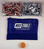 25 1/8 & 25 3/32 Standard Wing-Nut Cleco Fasteners w HBHT Tool & Bag (KWN4S50-3)