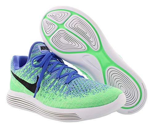 Medium Scarpe Uomo Green Low aluminum Blue electro 2 Nike Flyknit Running black Lunarepic IwH600