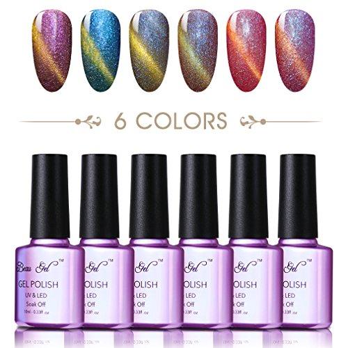 Cat eye magnetic gel nail polish, Beau Gel 3D Chameleon C...