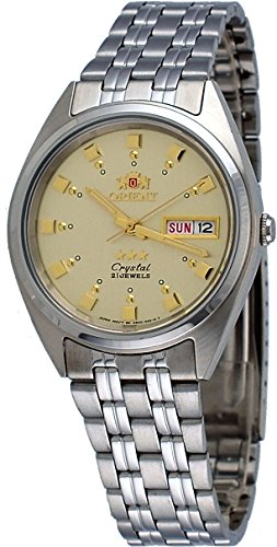 Orient #FAB00009C Men's 3 Star Stainless Steel Gold Dial Self Wind Automatic ()