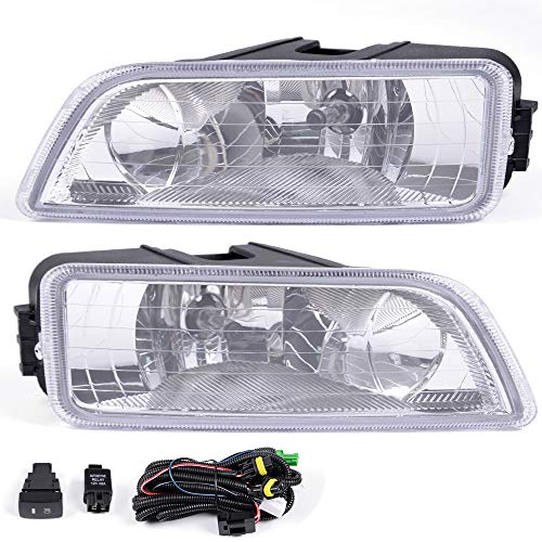 For Honda Accord 4 Door Sedan 2003-2007 Clear Lens Bumper Driving Fog Light Lamps Assembly Come With H11 Bulbs Wiring Harness 2004 2005 2006