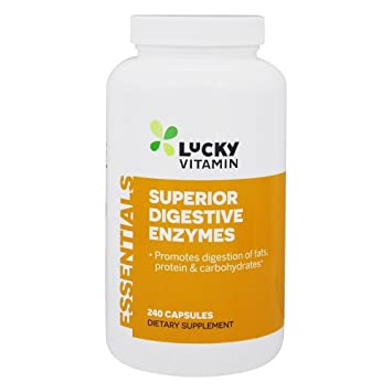 LuckyVitamin - Enzimas digestivas superiores - 240 cápsulas: Amazon ...
