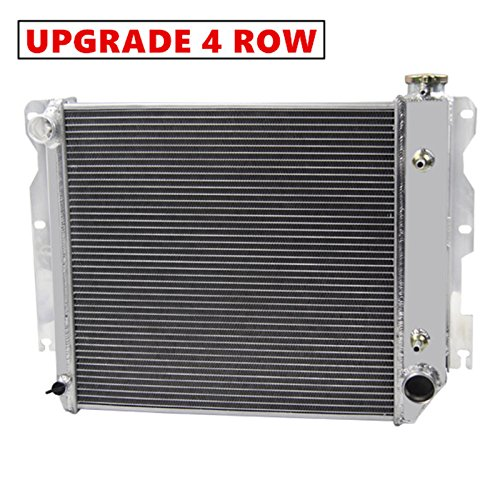 """Primecooling """"4 Row Core"""" Aluminum Radiator for Jeep Wrangler TJ YJ w/ Chevy V8 LS Engine Conver. 1987-06"""