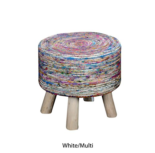 Christopher Knight Home Living Strill White and Multi Swirl Fabric Stool