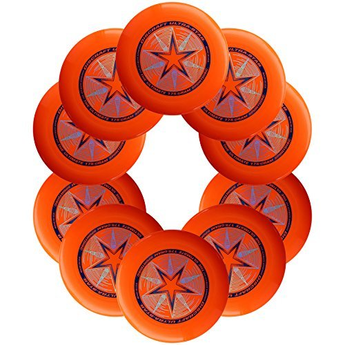 Discraft Ultra-Star 175g Ultimate Sportdisc Orange (10 Pack) by Discraft