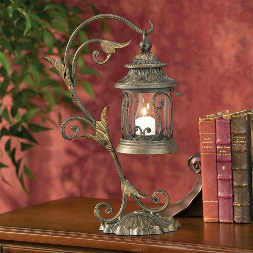 Kensington Hill Leaf and Vine Scroll Pillar Candle Holder (Scroll Candle)