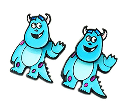 Sully Monsters, Inc. Stud Earrings With Gift Box from Outlander (Sully Costume Monsters Inc Woman)