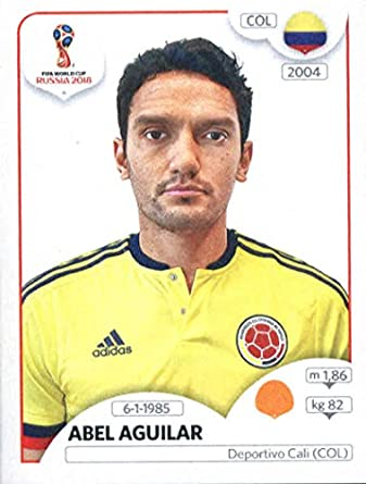 2018 panini world cup stickers russia 642 abel aguilar colombia soccer sticker