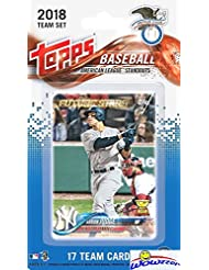 2018 Topps Baseball American League STANDOUTS EXCLUSIVE Special Limited Edition 17 Card Complete Set with Aaron Judge, Mike Trout, Carlos Correa, Gary Sanchez, Jose Altuve & More Superstars! WOWZZER
