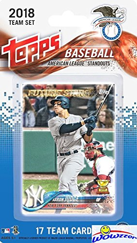 2018 Topps Baseball American League STANDOUTS EXCLUSIVE Special Limited Edition 17 Card Complete Set with Aaron Judge, Mike Trout, Carlos Correa, Gary Sanchez, Jose Altuve & More Superstars! - Baseball Card Complete Sets