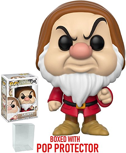 Funko Pop! Disney: Snow White and the Seven Dwarfs - Grumpy Vinyl Figure (Bundled with Pop Box Protector Case)