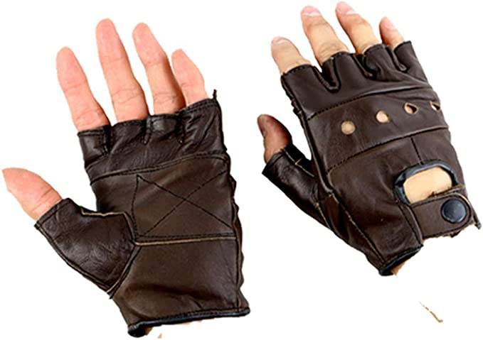 Wheelchair Driving, Training 100/% Leather Gloves Finger Less Gym Cycling