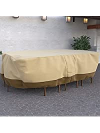 Dura Covers Fade Proof Rectangular Oval Heavy Duty Patio Table And Chair  Set Cover   Durable