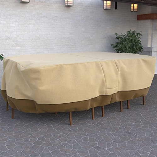 Dura Covers Fade Proof Rectangular Oval Heavy Duty Patio Table and Chair Set Cover - Durable and Water Resistant Outdoor Furniture Cover, - Cover Furniture Outdoor Oval