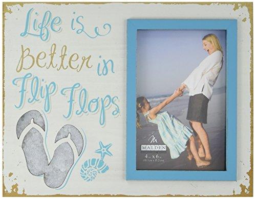Malden International Designs 3265-46 Coastal Picture Frame - Flip Flop Frame