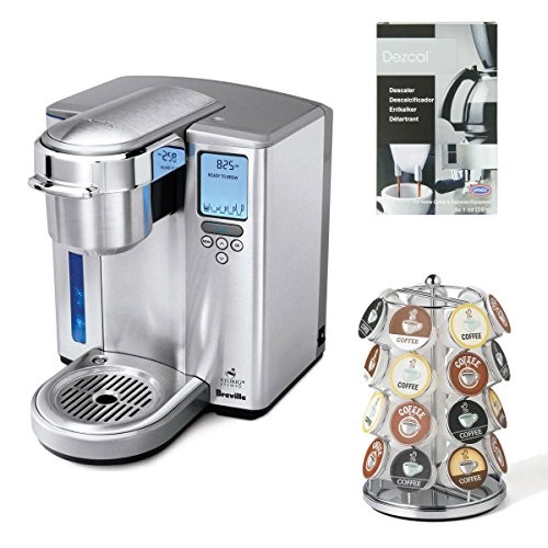Breville BKC700XL Gourmet Single-Serve Coffeemaker w/ Breville BKC100 K-Cup Carousel & Coffee/ Espresso Descaler image