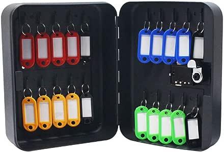 Armarios para llaves Caja de Clave de contraseña de 36 dígitos Gabinete de gestión de Llaves Caja de Llaves montada en la Pared Estuche de Llave con Etiqueta de Llave: Amazon.es: Hogar