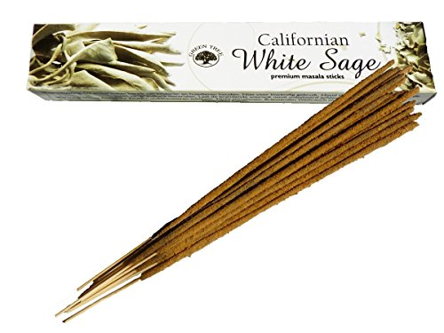 Green Tree Californian White Sage Natural Incense Sticks