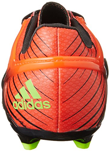adidas Messi 15.1 J, Botas de Fútbol Unisex Bebé Negro / Verde / Rojo (Negbas / Versol / Rojsol)