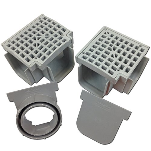 70%OFF Polylok Heavy Duty Trench Drain Open Outlet End Cap - Gray