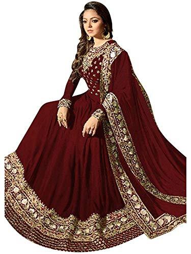(Women's Anarkali Salwar Kameez Designer Indian Dress Ethnic Party Embroidered Gown )