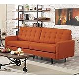 Coaster Kesson Mid Century Modern Sofa in Orange