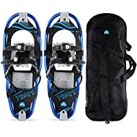 Outon Lightweight Aluminum Alloy Snow Shoes with Carry Bag