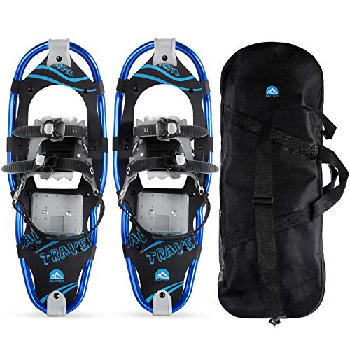 OUTON Snowshoes Lightweight Aluminum Alloy Snow Shoes for Men Women Youth Kids with Carry Bag