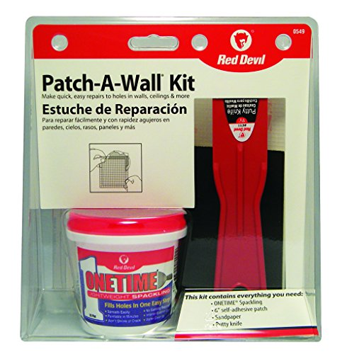 Red Devil 0549 Patch-A-Wall Kit (Repair Wall Spackle Kit)