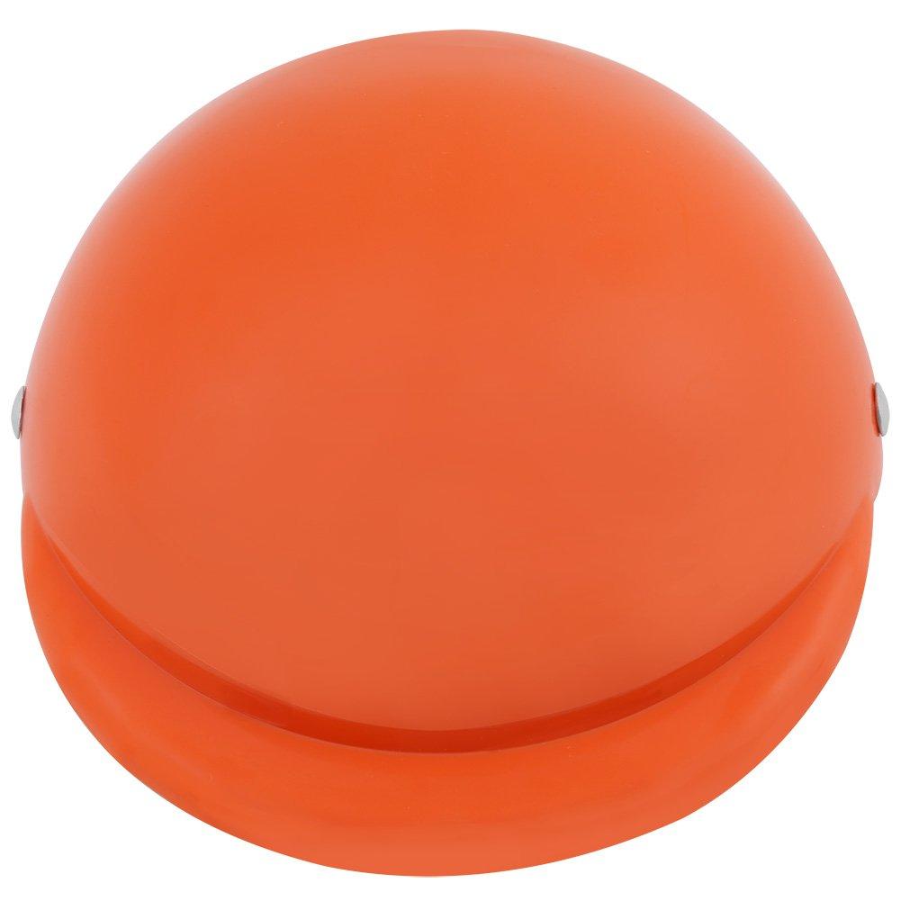 Orange M Fdit Casque Chien Casquette Chapeau en ABS Plastique Casque De Moto V/élo Casquette Chapeau pour Chien Chiot Compagnie