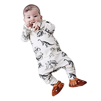 cce7e0498 Amazon.com   Newborn Infant Baby Boys Girls Clothes Long Sleeves ...