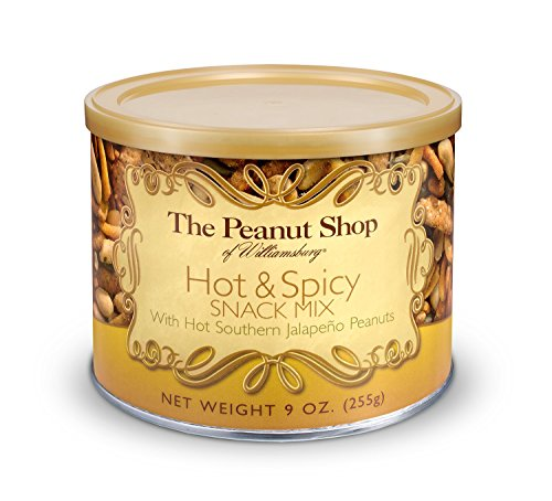 (The Peanut Shop of Williamsburg Hot & Spicy Snack Mix, 9-Ounce Tin)