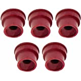 Lumax LX-1458 Silver Rubber Grease Fitting Cap, (Pack of 5)