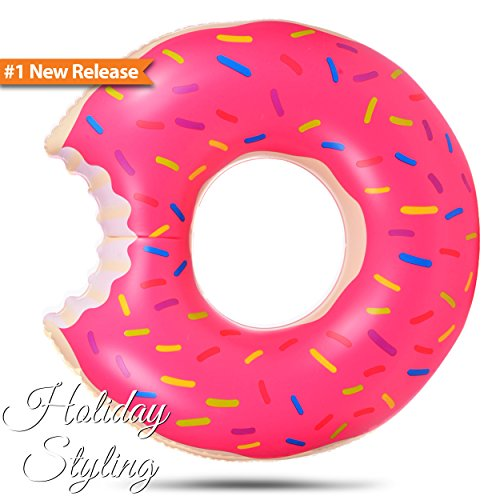 Inflatable Donut Pool Float Pink By Holiday Styling 48 Inches