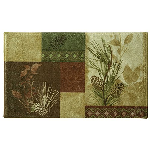 Bacova guild 50331 bacova guild pine cone silhouettes bath for Big w bathroom mats