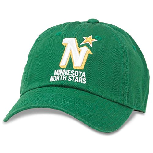 (American Needle Blue Line NHL Team Dad Hat, Vintage Minnesota North Stars, Kelly Green (40742A-MNN))
