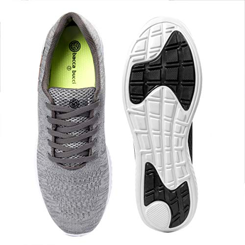 51rX%2Bcp vEL. SS500  - Bacca Bucci® Running Shoes Men Lightweight Fashion Sneakers Walking Footwear Tennis Athletic Shoes Slip-On for Outdoor Sport Gym Jogging Big Size UK-11 to 13