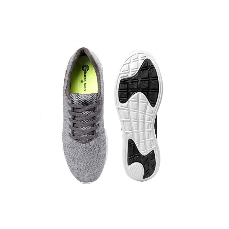 51rX%2Bcp vEL. SS768  - Bacca Bucci® Running Shoes Men Lightweight Fashion Sneakers Walking Footwear Tennis Athletic Shoes Slip-On for Outdoor Sport Gym Jogging Big Size UK-11 to 13