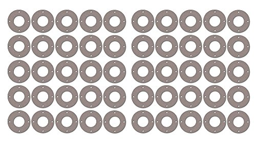 1//8 Thick Pack of 10 1//2 Pipe Size Pressure Class 300# 0.84 ID Sterling Seal CFF7540.500.125.300X10 7540 Vegetable Fiber Full Face Gasket