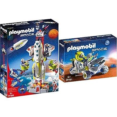 PLAYMOBIL 9488 Spielzeug-Mars-Rakete mit Startrampe & 9491 Spielzeug-Mars-Trike: Toys & Games
